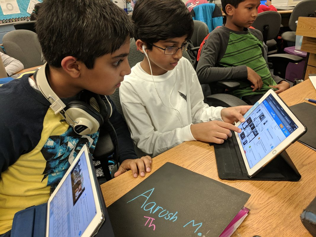 Students collaborate on PenPal Schools