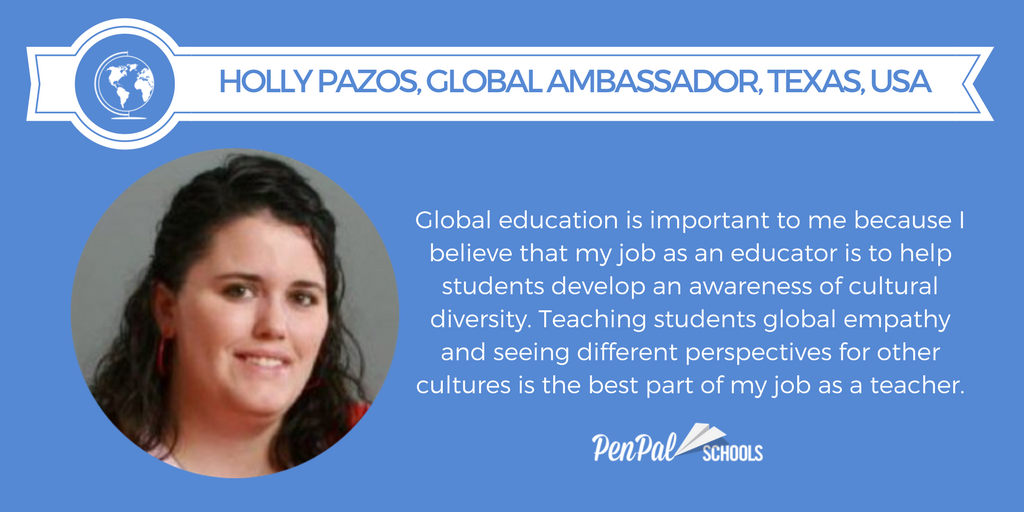 PenPal Schools Global Ambassador, middle school, teacher, global education